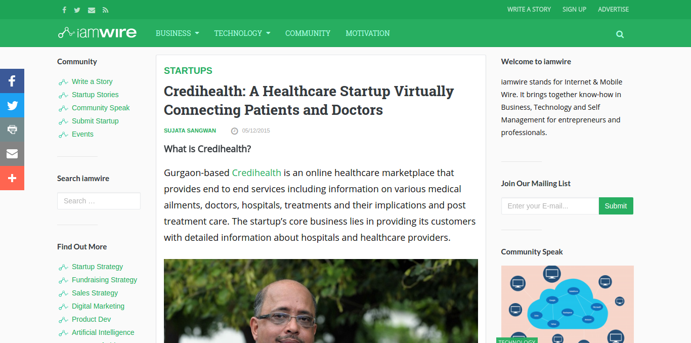 FireShot Capture 43 – Credihealth_ A Healthcare Startup Virt_ – http___www.iamwire.com_2015_05_cre