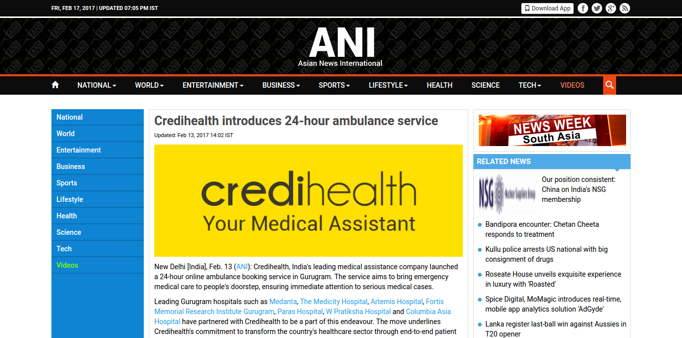 FireShot Capture 47 – Credihealth introduces 24-hour ambulan_ – http___www.aninews.in_newsdetail-M