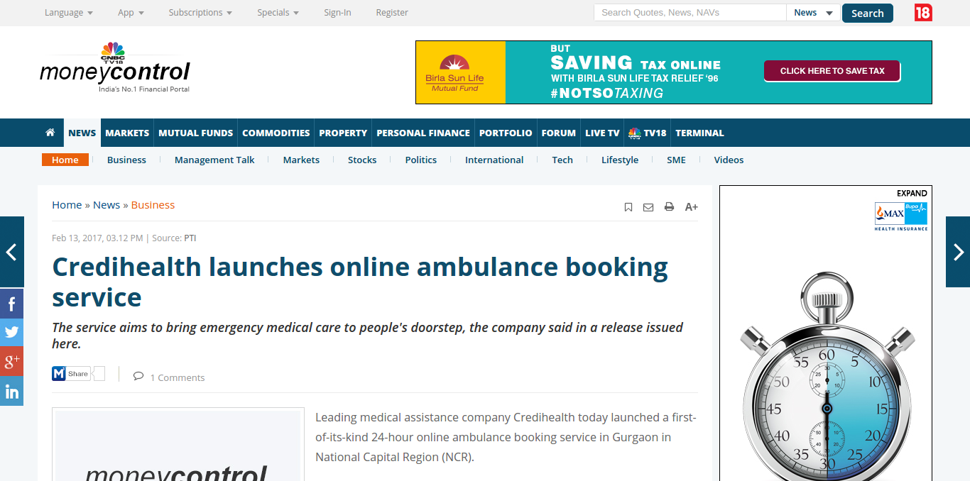 FireShot Capture 49 – Credihealth launches online ambulance _ – http___www.moneycontrol.com_news_b