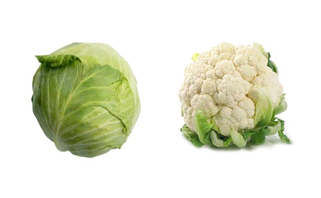 Cabbage and Cauliflower - Fibre Rich Indian Food