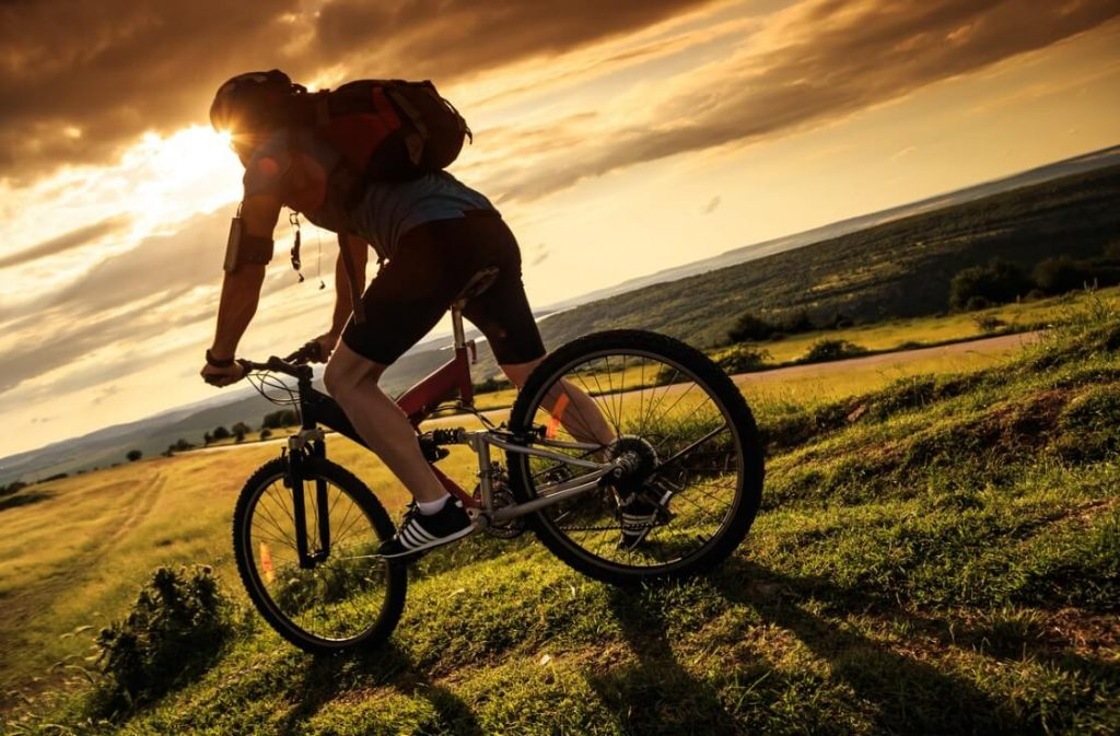 health benefits of cycling - stress free