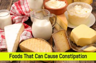 foods that cause Constipation, Foods that cause constipation list