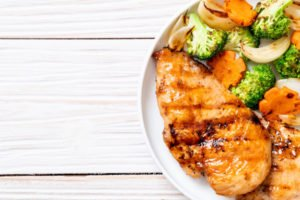 Grilled Chicken, Broccoli, And Sweet Potato