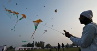 kite flying in India