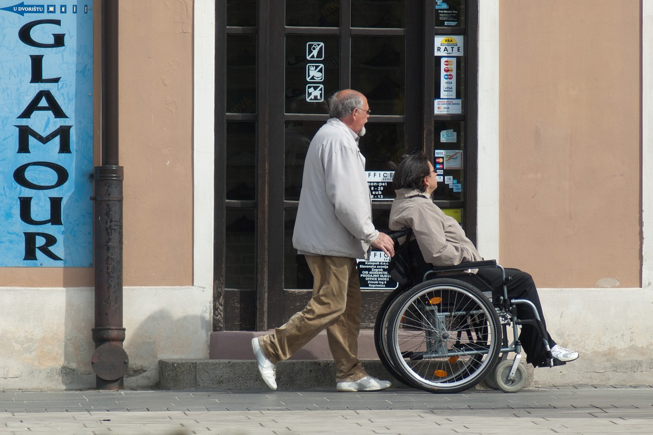 dealing with disabled people